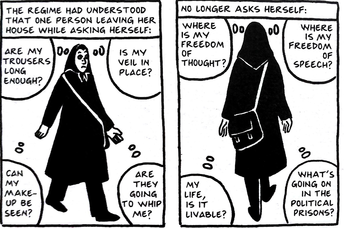 Brutal Unflinching Uncompromising Marjane Satrapi S Persepolis The Amateur Media Blog