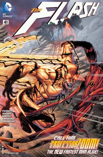 New 52 cover, Professor Zoom and Flash