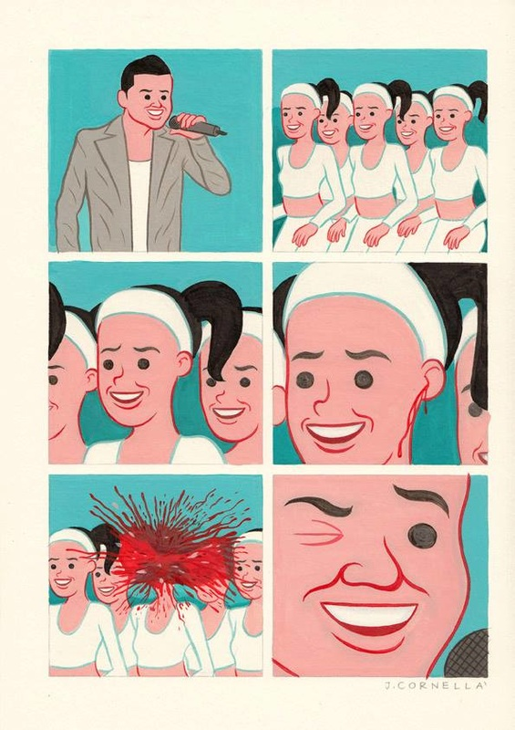 Pop idol makes fan's head explode,  Joan Cornellà